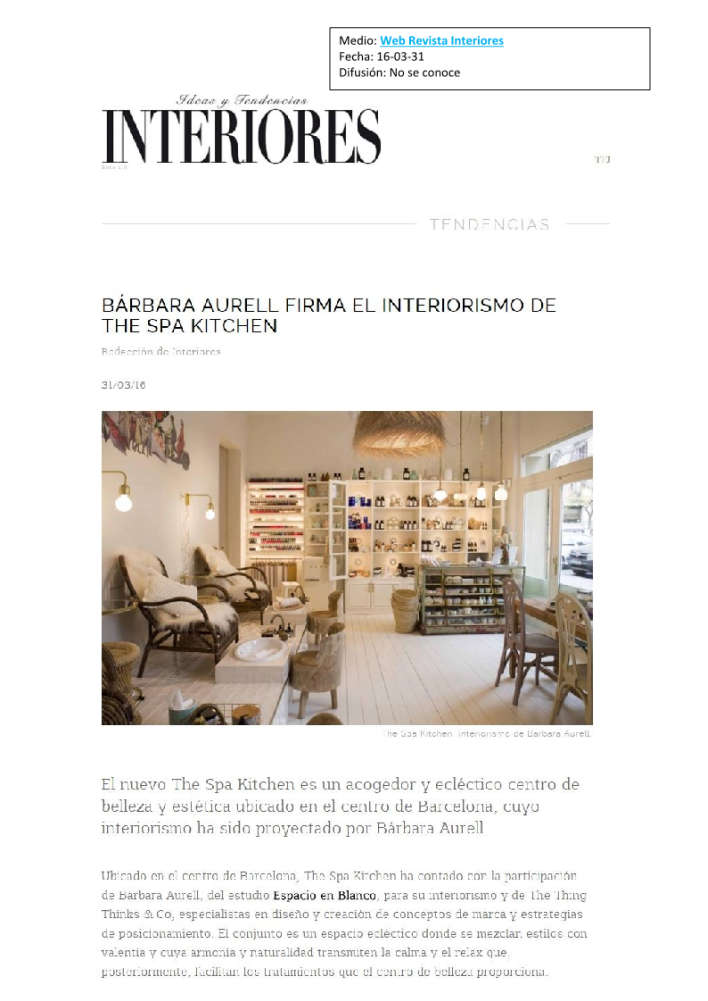 Spa web revista interiores