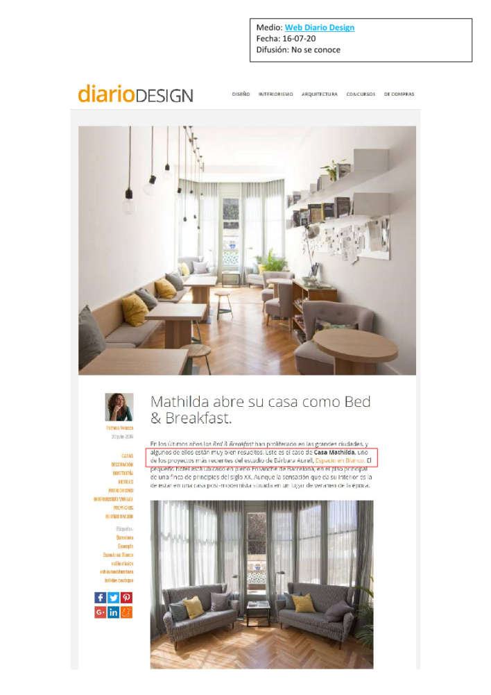 Mathilda web diario design