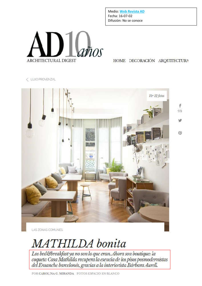 Mathilda web revista ad